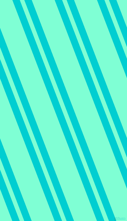 111 degree angles dual striped line, 23 pixel line width, 14 and 71 pixels line spacing, Dark Turquoise and Aquamarine dual two line striped seamless tileable