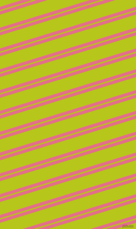 17 degree angle dual stripes line, 10 pixel line width, 4 and 40 pixel line spacing, Deep Blush and Rio Grande dual two line striped seamless tileable