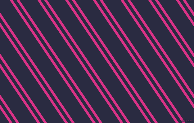 124 degree angle dual striped line, 8 pixel line width, 10 and 48 pixel line spacing, Deep Cerise and Valhalla dual two line striped seamless tileable