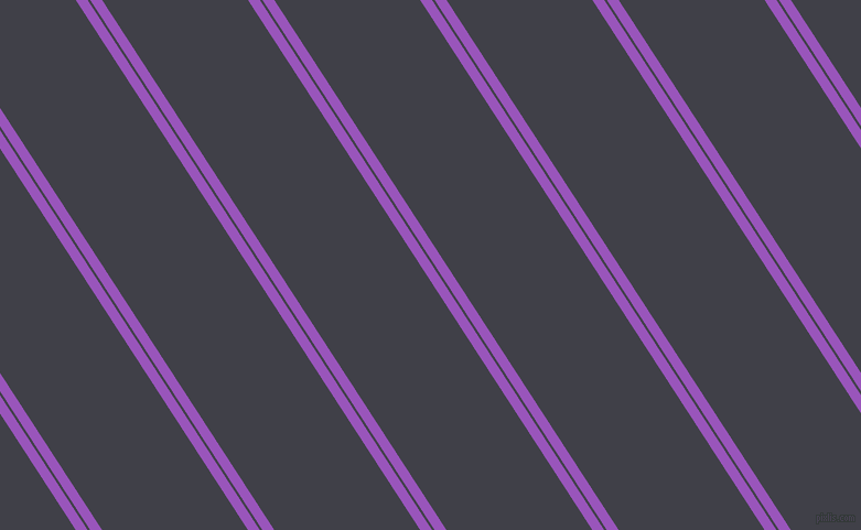 123 degree angles dual stripes lines, 9 pixel lines width, 2 and 111 pixels line spacing, Deep Lilac and Payne