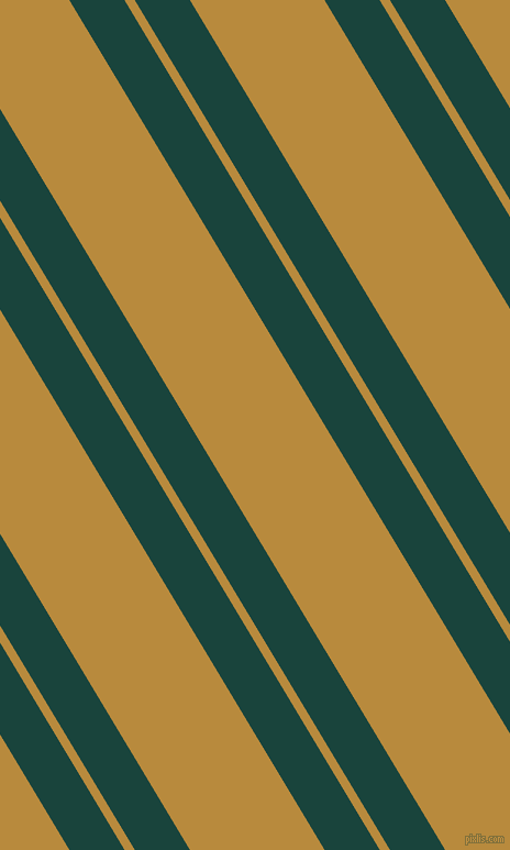 121 degree angles dual stripes lines, 43 pixel lines width, 8 and 105 pixels line spacing, Deep Teal and Marigold dual two line striped seamless tileable
