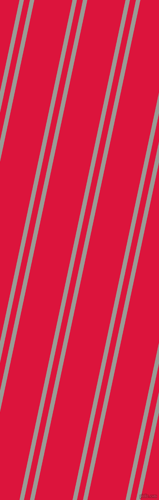 78 degree angles dual striped line, 9 pixel line width, 12 and 77 pixels line spacing, Delta and Crimson dual two line striped seamless tileable