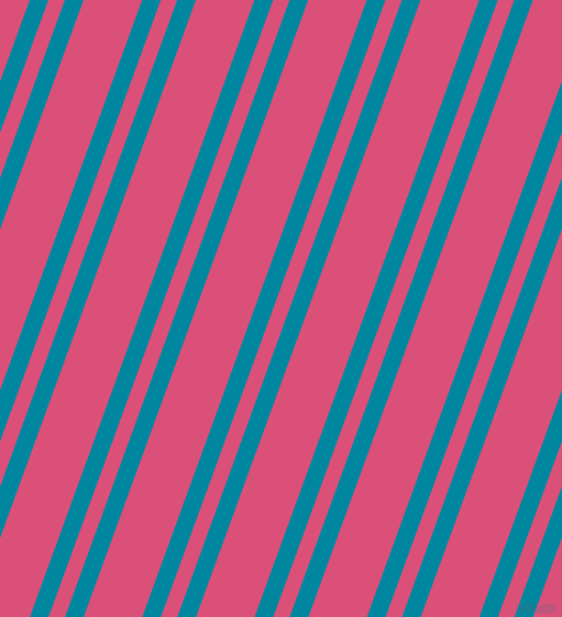 70 degree angles dual striped lines, 16 pixel lines width, 14 and 50 pixels line spacing, Eastern Blue and Cranberry dual two line striped seamless tileable