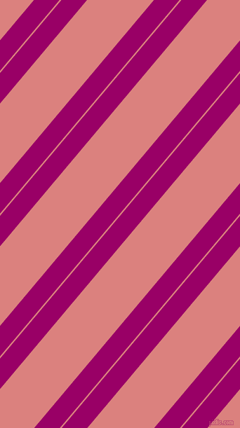 50 degree angle dual stripe line, 28 pixel line width, 2 and 73 pixel line spacing, Eggplant and Sea Pink dual two line striped seamless tileable