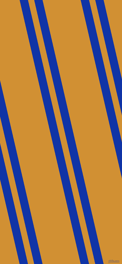 103 degree angle dual striped lines, 27 pixel lines width, 20 and 123 pixel line spacing, Egyptian Blue and Fuel Yellow dual two line striped seamless tileable