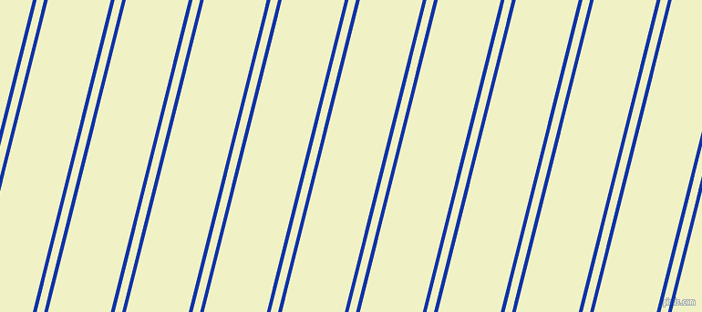76 degree angles dual stripes line, 4 pixel line width, 8 and 67 pixels line spacing, Egyptian Blue and Spring Sun dual two line striped seamless tileable