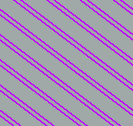 143 degree angles dual stripe line, 6 pixel line width, 12 and 61 pixels line spacing, Electric Purple and Hit Grey dual two line striped seamless tileable