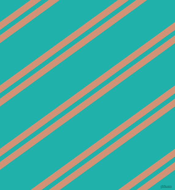 36 degree angles dual stripes line, 21 pixel line width, 14 and 112 pixels line spacing, Feldspar and Light Sea Green dual two line striped seamless tileable
