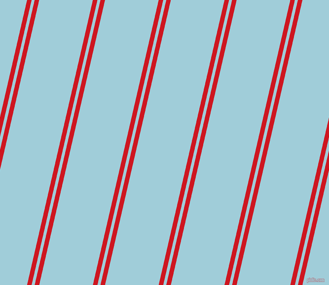 77 degree angles dual stripes lines, 9 pixel lines width, 6 and 106 pixels line spacing, Fire Engine Red and Regent St Blue dual two line striped seamless tileable