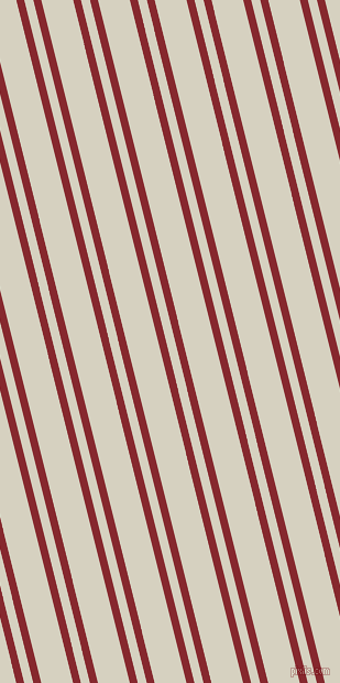 104 degree angles dual striped line, 7 pixel line width, 8 and 28 pixels line spacingFlame Red and Ecru White dual two line striped seamless tileable