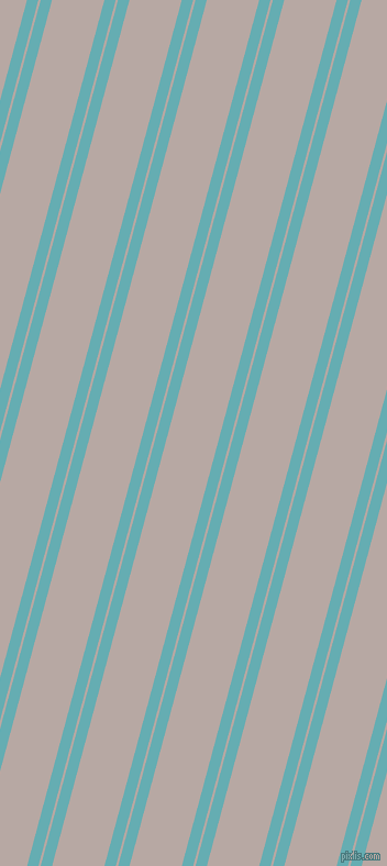 75 degree angle dual stripes line, 10 pixel line width, 2 and 46 pixel line spacing, Fountain Blue and Martini dual two line striped seamless tileable