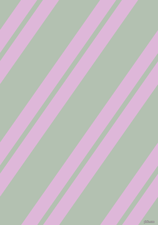 55 degree angles dual stripes lines, 45 pixel lines width, 16 and 114 pixels line spacing, French Lilac and Rainee dual two line striped seamless tileable