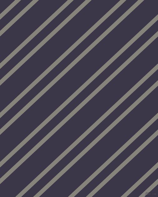 43 degree angle dual stripe line, 13 pixel line width, 26 and 63 pixel line spacing, Friar Grey and Martinique dual two line striped seamless tileable