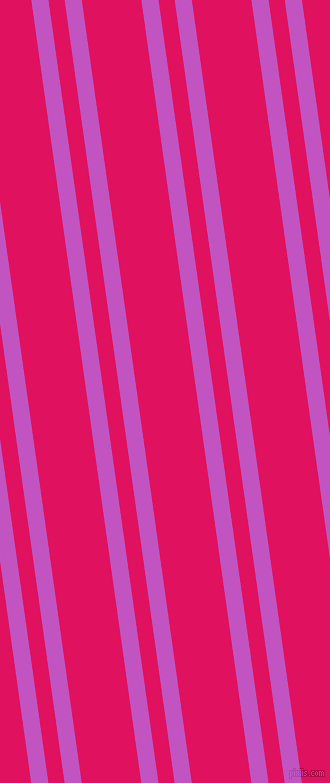 98 degree angles dual stripes line, 17 pixel line width, 16 and 59 pixels line spacing, Fuchsia and Ruby dual two line striped seamless tileable