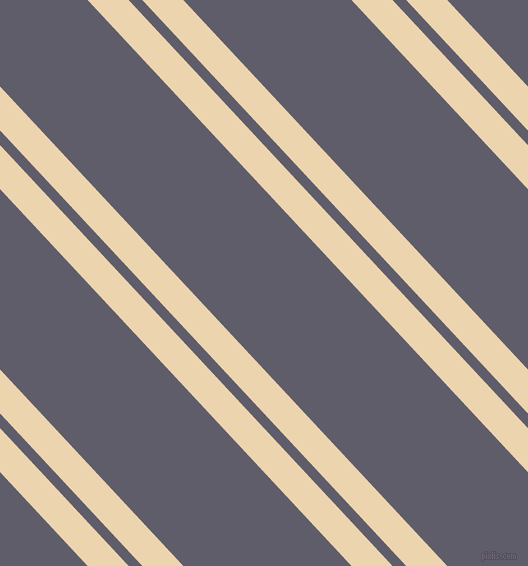 133 degree angles dual striped line, 30 pixel line width, 10 and 123 pixels line spacing, Givry and Smoky dual two line striped seamless tileable