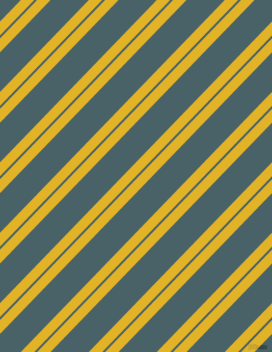 46 degree angle dual stripes line, 19 pixel line width, 4 and 54 pixel line spacing, Gold Tips and Smalt Blue dual two line striped seamless tileable