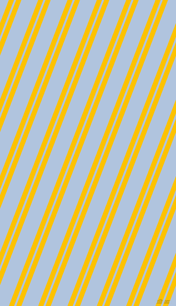 69 degree angles dual stripes lines, 10 pixel lines width, 4 and 32 pixels line spacing, Golden Poppy and Light Steel Blue dual two line striped seamless tileable