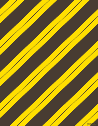 44 degree angle dual stripes lines, 20 pixel lines width, 2 and 49 pixel line spacing, Golden Yellow and Taupe dual two line striped seamless tileable