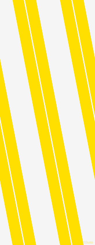 101 degree angles dual stripe lines, 38 pixel lines width, 4 and 81 pixels line spacing, Golden Yellow and White Smoke dual two line striped seamless tileable