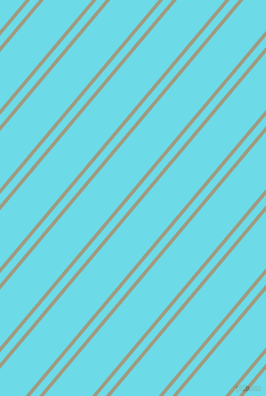 50 degree angle dual striped lines, 5 pixel lines width, 10 and 53 pixel line spacingGrey Olive and Turquoise Blue dual two line striped seamless tileable