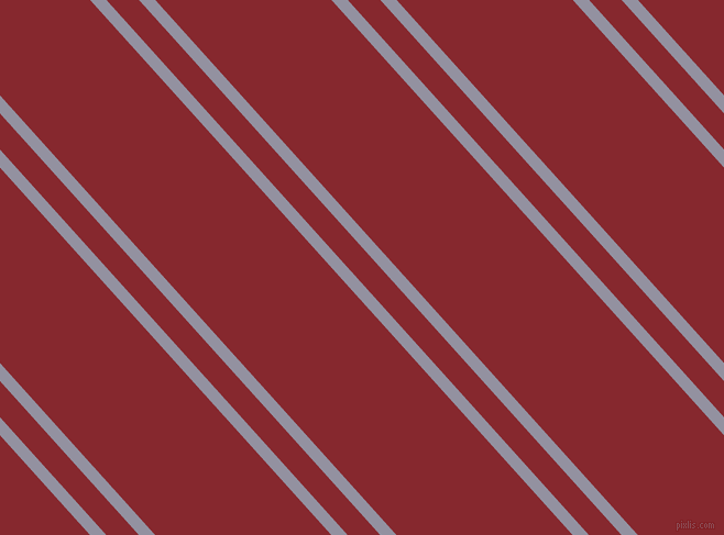 132 degree angles dual stripe line, 11 pixel line width, 22 and 119 pixels line spacing, Grey Suit and Flame Red dual two line striped seamless tileable