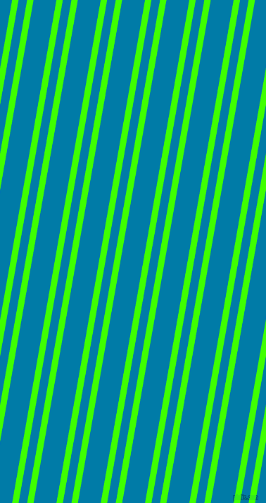 80 degree angles dual striped line, 9 pixel line width, 12 and 32 pixels line spacing, Harlequin and Cerulean dual two line striped seamless tileable