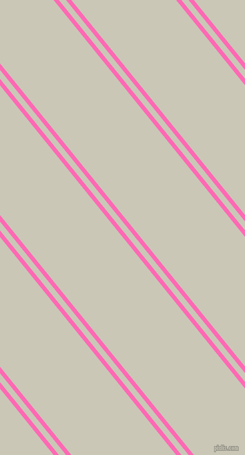 129 degree angles dual stripe lines, 6 pixel lines width, 8 and 118 pixels line spacing, Hot Pink and Chrome White dual two line striped seamless tileable