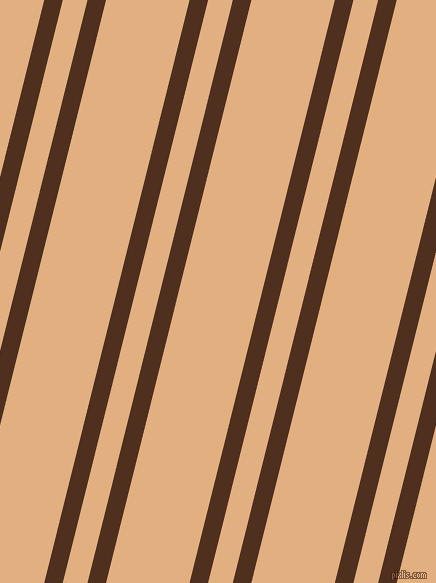 76 degree angles dual striped line, 18 pixel line width, 24 and 81 pixels line spacing, Indian Tan and Manhattan dual two line striped seamless tileable