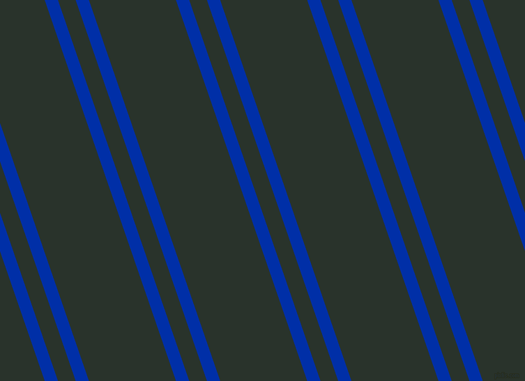 109 degree angles dual striped line, 18 pixel line width, 24 and 118 pixels line spacing, International Klein Blue and Gordons Green dual two line striped seamless tileable