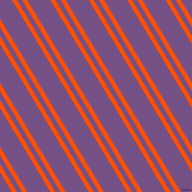 121 degree angle dual stripes line, 17 pixel line width, 18 and 79 pixel line spacing, International Orange and Affair dual two line striped seamless tileable