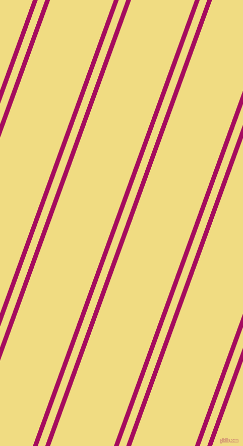 70 degree angle dual stripes line, 9 pixel line width, 14 and 119 pixel line spacing, Jazzberry Jam and Buff dual two line striped seamless tileable