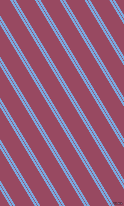 121 degree angle dual stripe lines, 7 pixel lines width, 2 and 55 pixel line spacing, Jordy Blue and Cadillac dual two line striped seamless tileable