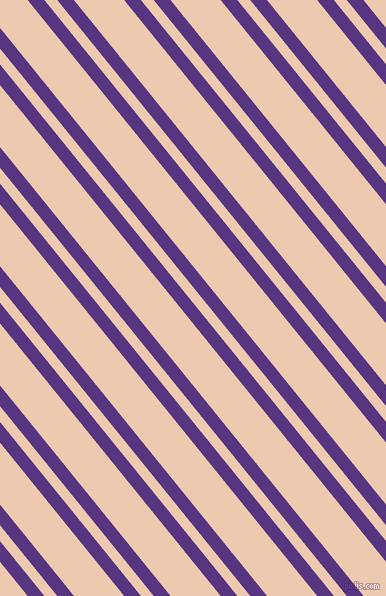 129 degree angles dual stripe line, 13 pixel line width, 10 and 39 pixels line spacing, Kingfisher Daisy and Desert Sand dual two line striped seamless tileable