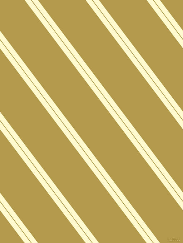 127 degree angle dual stripes lines, 16 pixel lines width, 2 and 122 pixel line spacing, Lemon Chiffon and Husk dual two line striped seamless tileable