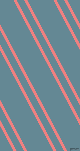 118 degree angles dual stripe lines, 12 pixel lines width, 28 and 98 pixels line spacing, Light Coral and Horizon dual two line striped seamless tileable