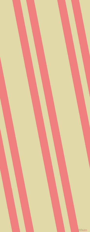 101 degree angles dual stripes lines, 32 pixel lines width, 24 and 94 pixels line spacing, Light Coral and Mint Julep dual two line striped seamless tileable