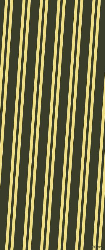 86 degree angles dual stripes lines, 10 pixel lines width, 8 and 31 pixels line spacing, Light Goldenrod and Green Kelp dual two line striped seamless tileable