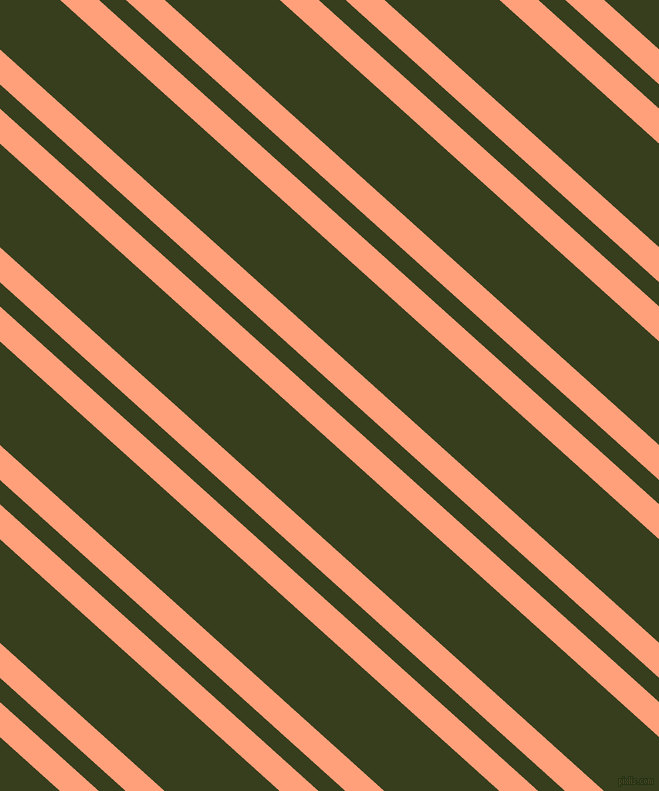 138 degree angles dual stripe lines, 26 pixel lines width, 18 and 77 pixels line spacing, Light Salmon and Turtle Green dual two line striped seamless tileable