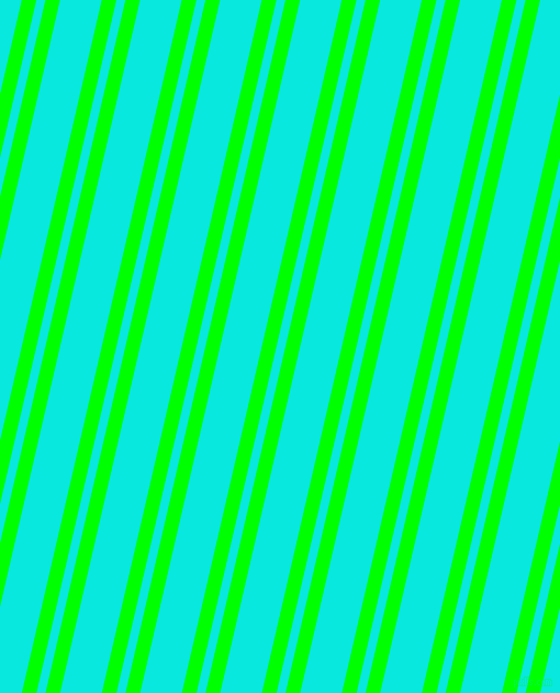 77 degree angles dual striped lines, 13 pixel lines width, 8 and 37 pixels line spacing, Lime and Bright Turquoise dual two line striped seamless tileable