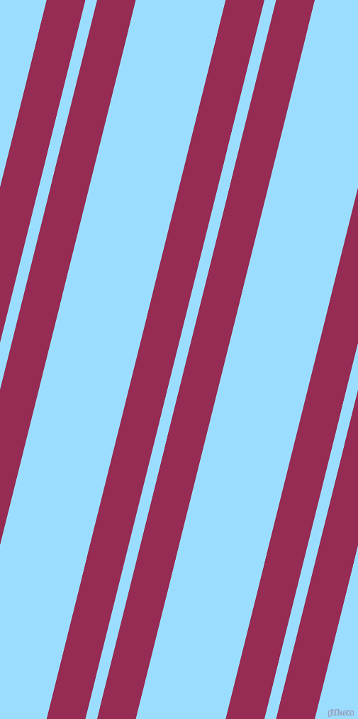 76 degree angle dual stripe line, 53 pixel line width, 16 and 123 pixel line spacing, Lipstick and Columbia Blue dual two line striped seamless tileable