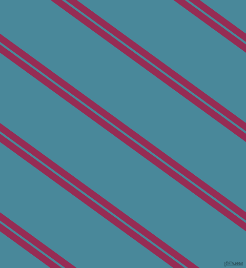 144 degree angle dual stripes line, 13 pixel line width, 4 and 111 pixel line spacing, Lipstick and Hippie Blue dual two line striped seamless tileable