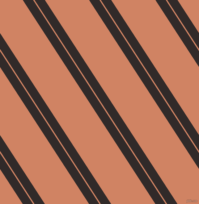 123 degree angles dual stripe line, 28 pixel line width, 4 and 120 pixels line spacing, Livid Brown and Burning Sand dual two line striped seamless tileable