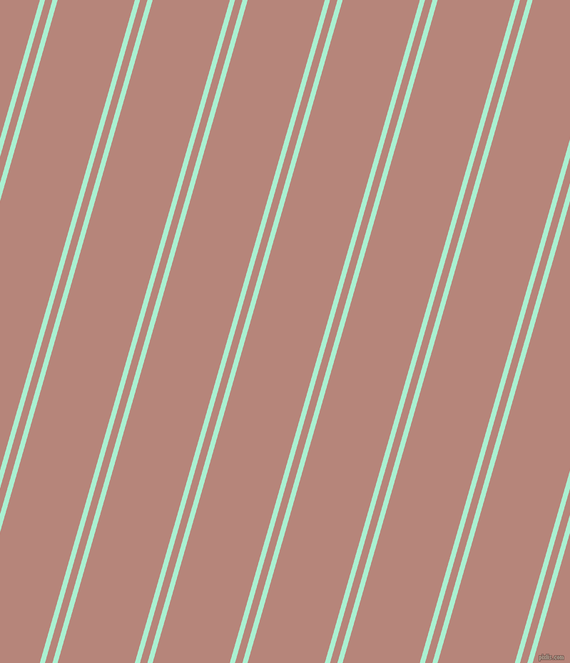 74 degree angles dual stripes line, 7 pixel line width, 10 and 104 pixels line spacing, Magic Mint and Brandy Rose dual two line striped seamless tileable