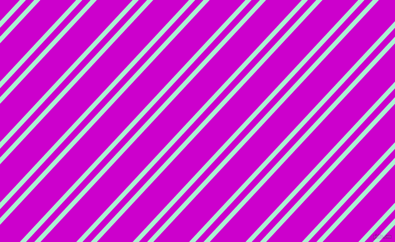 47 degree angles dual stripes lines, 9 pixel lines width, 12 and 52 pixels line spacing, Magic Mint and Deep Magenta dual two line striped seamless tileable