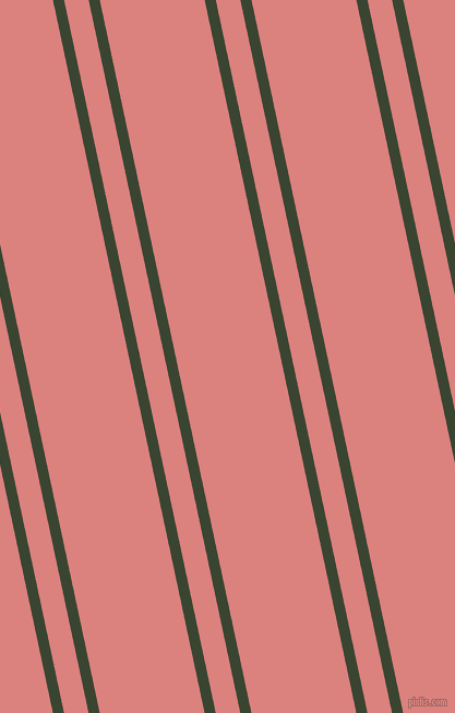 102 degree angles dual stripes lines, 10 pixel lines width, 22 and 94 pixels line spacing, Mallard and Sea Pink dual two line striped seamless tileable