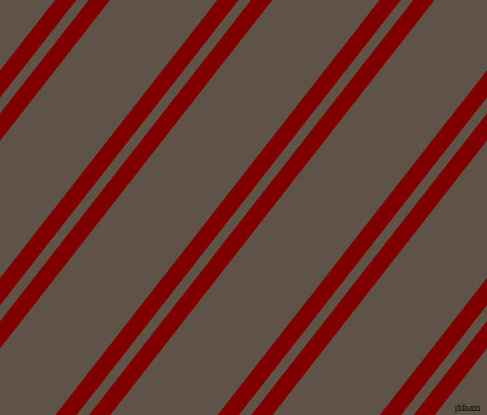 52 degree angle dual stripe lines, 24 pixel lines width, 14 and 121 pixel line spacing, Maroon and Judge Grey dual two line striped seamless tileable
