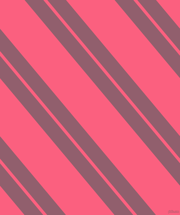 130 degree angles dual stripe lines, 47 pixel lines width, 10 and 122 pixels line spacing, Mauve Taupe and Brink Pink dual two line striped seamless tileable