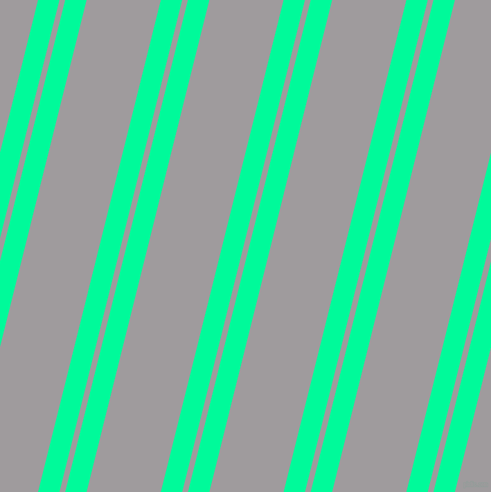 76 degree angle dual stripes line, 30 pixel line width, 8 and 104 pixel line spacing, Medium Spring Green and Shady Lady dual two line striped seamless tileable