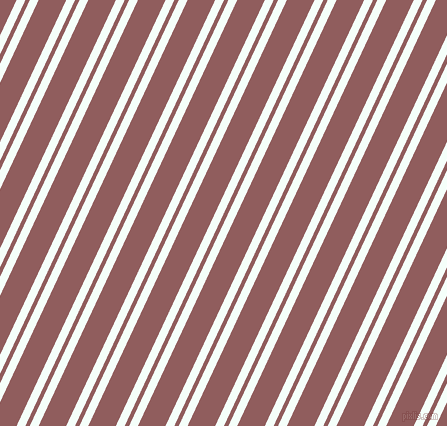 65 degree angles dual stripe line, 8 pixel line width, 4 and 25 pixels line spacing, Mint Cream and Rose Taupe dual two line striped seamless tileable