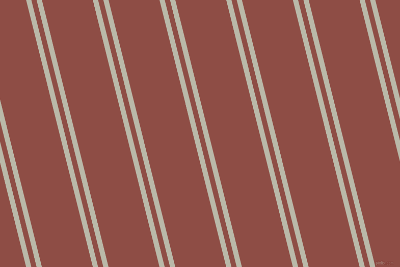 104 degree angles dual stripes line, 10 pixel line width, 10 and 97 pixels line spacing, Mist Grey and Matrix dual two line striped seamless tileable
